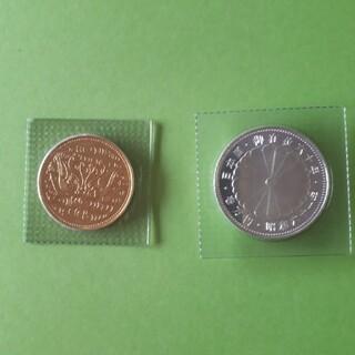 天皇陛下御在位六十年記念硬貨10万円金貨+1万円銀貨 昭和61年
