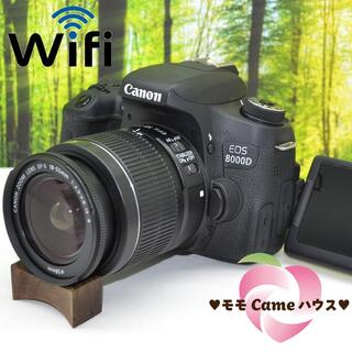 キヤノン(Canon)のキャノン EOS 8000D☆WiFi機能搭載!高機能一眼レフ☆1380(デジタル一眼)