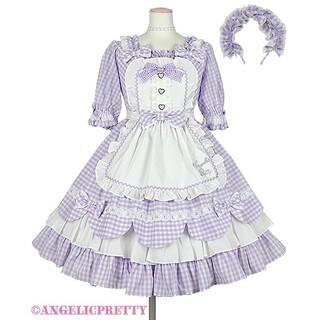 アンジェリックプリティー(Angelic Pretty)のheart cafe ワンピース セット(ひざ丈ワンピース)