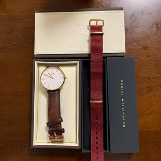 ダニエルウェリントン 腕時計 36mm 替ベルト付き 箱付き
