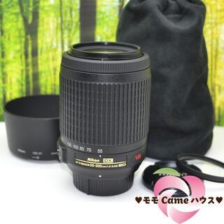 ニコン(Nikon)のニコン望遠レンズ★AF-S DX 55-200mm 手振れ補正つき!1391-1(レンズ(ズーム))