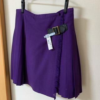 トゥモローランド(TOMORROWLAND)のプリーツスカート 紫 トゥモローランド(ミニスカート)
