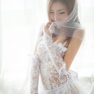 セクシーランジェリー☆ウェディングドレス花柄レースベビードールTバック