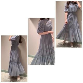 snidel - 新品 公式タグ付き SNIDEL Sustainaチュールティアードドレス