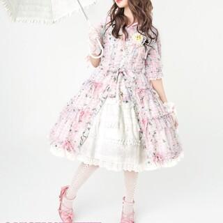 Angelic Pretty - レースアップリボンオーバーニー ピンク