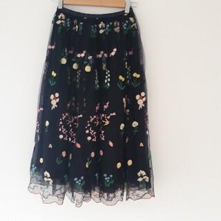 franche lippee - フランシュリッペ 刺繍チュールスカート