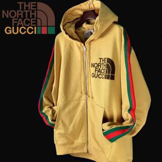 Gucci - GUCCI THE NORTH FACE フルジップパーカー(XL)黄色