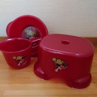 HYSTERIC MINI - ヒステリックミニ 風呂桶&手桶&風呂椅子 3点セット&おまけ1点