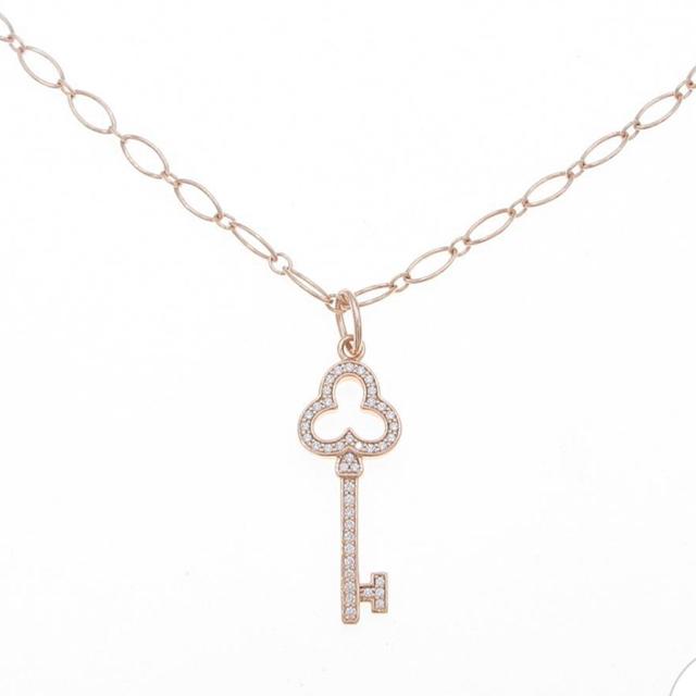 Tiffany & Co.(ティファニー)のtiffany キー オープン トレフォイル キー ネックレス レディースのアクセサリー(ネックレス)の商品写真