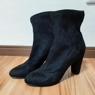 DIANA - ダイアナ ショードブーツ ブラック スエード 22.5センチ
