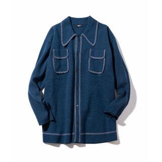 glamb - 新品 glamb カロリナニットシャツ ネイビー L