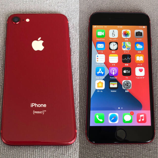 iPhone - 【週末セール】iphone8 red 64GB SIMフリー 電池100%