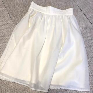アラマンダ(allamanda)のホワイト★スカート(ひざ丈スカート)