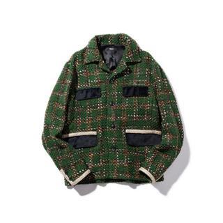 グラム(glamb)の新品 glamb ファンシーツイードジャケット 緑 green  S(その他)