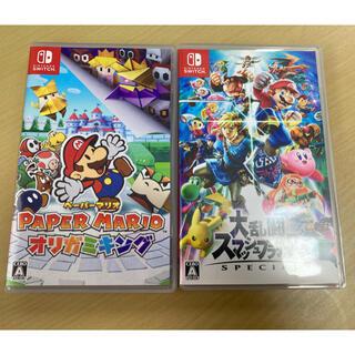 Nintendo Switch - ペーパーマリオオリガミキング&スマブラ セット
