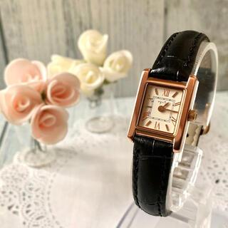 agete - 【電池交換済み】agete アガット 腕時計 スクエア ピンクゴールド