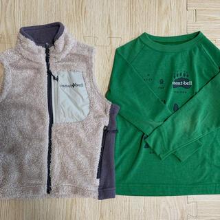 モンベル キッズ ベスト90サイズ 長袖100サイズ セット(Tシャツ/カットソー)