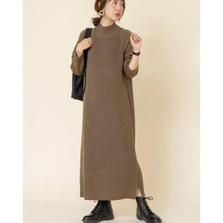coen - coen コーエン カタアゼハイネックニットワンピース フリーサイズ セーター