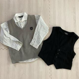 COMME CA ISM - 男の子 フォーマル シャツ ベストセット 90