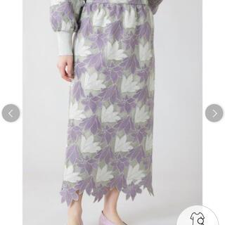 ROSE BUD - 花柄レーススカート