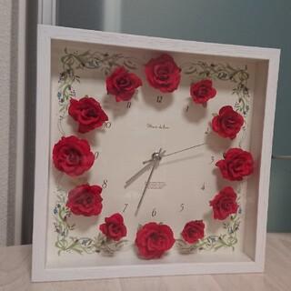 プリザーブドフラワー 時計(置時計)