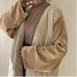 TODAYFUL - amiur vintage satin gown coat Beige