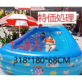 318*180*68CM子供のためのプール家庭用屋外大型プール