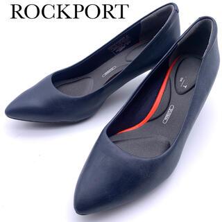 ROCKPORT - 【ROCKPORT】パンプス ポインテッドトゥ レザー ネイビー 22.5cm