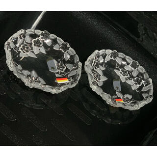 ドイツ製★カルメン★期間限定値引き☆2枚セット☆ガラス製  花柄 皿 クリスタル(食器)