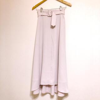 アンドクチュール(And Couture)のアンドクチュール♡フレアロングスカート ベルト付き(ロングスカート)