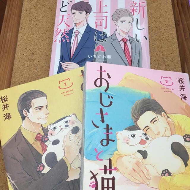 おじさまと猫  新しい上司はど天然 3冊セット エンタメ/ホビーの漫画(女性漫画)の商品写真