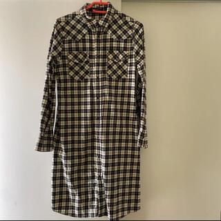 ユナイテッドアローズ(UNITED ARROWS)のユナイテッドアローズ チェック シャツワンピース 授乳服にも。(ひざ丈ワンピース)