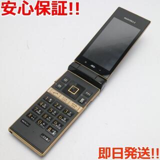 キョウセラ(京セラ)の良品中古 au MARVERA 2 KYY09 ブラック (携帯電話本体)