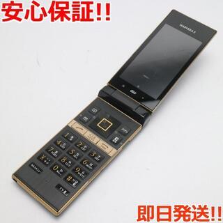 キョウセラ(京セラ)の美品 au MARVERA 2 KYY09 ブラック (携帯電話本体)