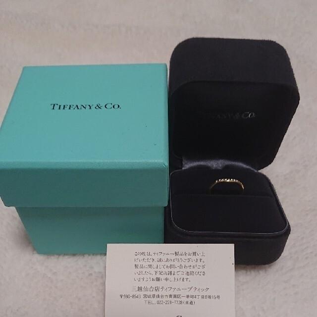 Tiffany & Co.(ティファニー)の美品❣️ティファニー ダイヤモンド カーブド バンドリング K18YG レディースのアクセサリー(リング(指輪))の商品写真