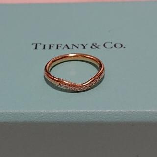 Tiffany & Co. - 美品❣️ティファニー ダイヤモンド カーブド バンドリング K18YG