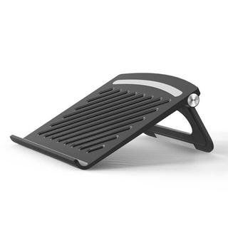 折り畳みパソコンスタンド ABS+シリコン素材 (ブラック)