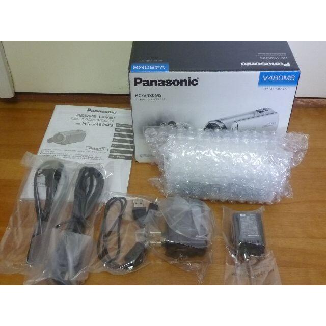 Panasonic(パナソニック)のPanasonic HC-V480MS-W ビデオカメラ 32GB スマホ/家電/カメラのカメラ(ビデオカメラ)の商品写真