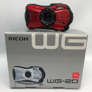 RICOH - RICOH 防水デジタルカメラ RICOH WG-20 レッド