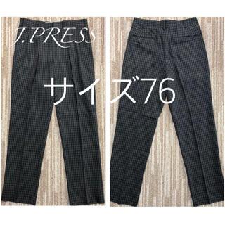 ジェイプレス(J.PRESS)のJ.PRESS メンズ グレンチェック パンツ ウール スラックス サイズ76(スラックス)