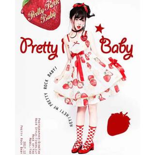アンジェリックプリティー(Angelic Pretty)のPretty Rock Baby いちごジャンパースカート(ひざ丈ワンピース)