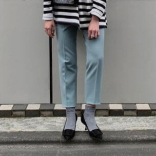 DEUXIEME CLASSE - 【新品】YONFA tapered slacks (mint blue) S