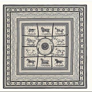 Hermes - エルメス カシシル バンダナ スカーフ 馬着 カシミアシルク