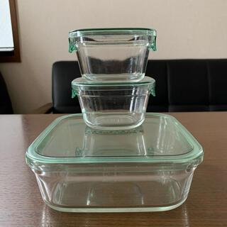 イワキ パック&レンジ 耐熱ガラス 3個セット 保存容器
