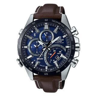 カシオ(CASIO)のカシオ EDIFICE モバイルリンク ソーラーモデル 腕時計 ブラウン(腕時計(アナログ))