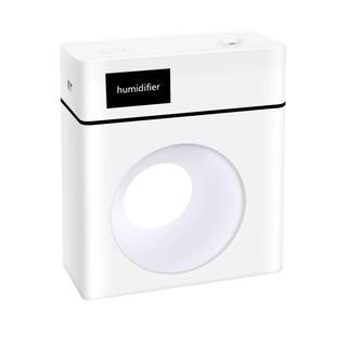 卓上加湿器 大容量500mL 超音波式 次亜塩素酸水対応 USB給電式