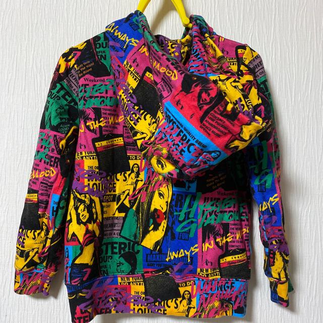 JOEY HYSTERIC(ジョーイヒステリック)のJOEYHYSTERIC/FUTURE1984総柄パーカー/ジョーイヒステリック キッズ/ベビー/マタニティのキッズ服女の子用(90cm~)(ジャケット/上着)の商品写真