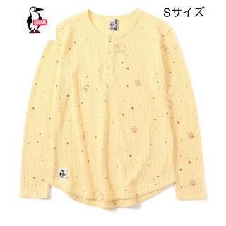 チャムス(CHUMS)の新品タグ付き CHUMS ワッフルヘンリーロングTシャツ S  定価5280円(Tシャツ/カットソー(七分/長袖))