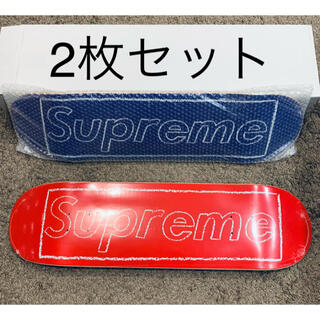 シュプリーム(Supreme)の2枚セット Supreme KAWS Chalk Logo Skateboard(スケートボード)