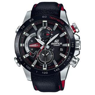 カシオ(CASIO)のカシオ EDIFICE モバイルリンク ソーラーモデル 腕時計 ブラック(腕時計(アナログ))